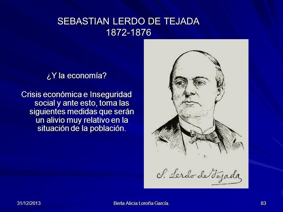 SEBASTIAN LERDO DE TEJADA 1872-1876