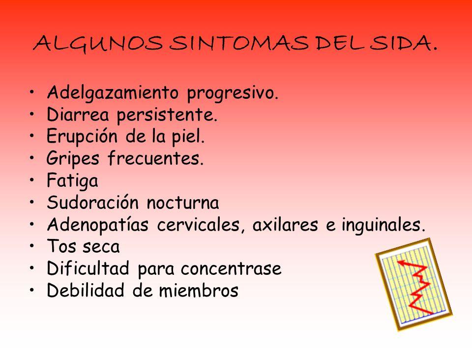 ALGUNOS SINTOMAS DEL SIDA.