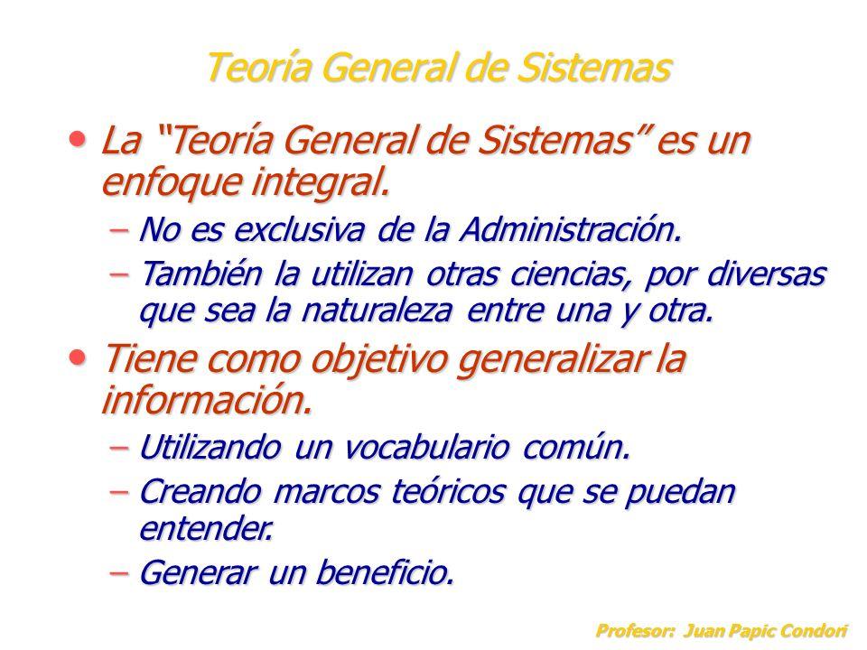 Teoría General de Sistemas