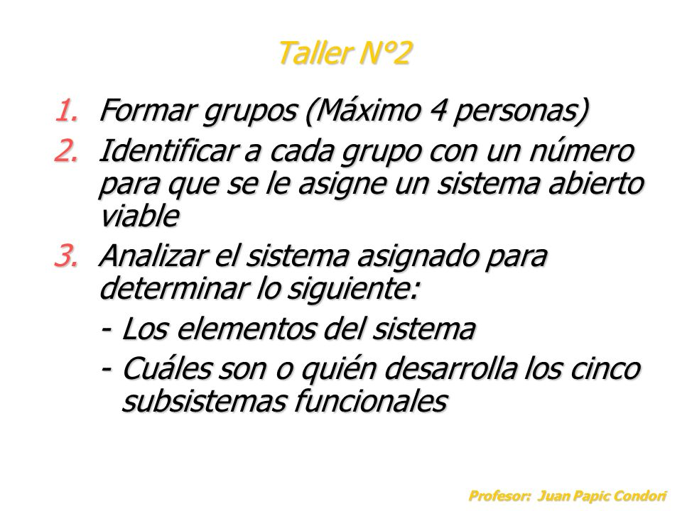 Formar grupos (Máximo 4 personas)