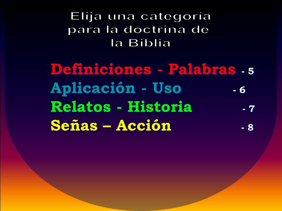 Definiciones - Palabras - 5 Aplicación - Uso - 6