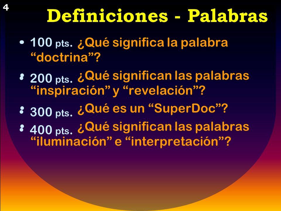 Definiciones - Palabras