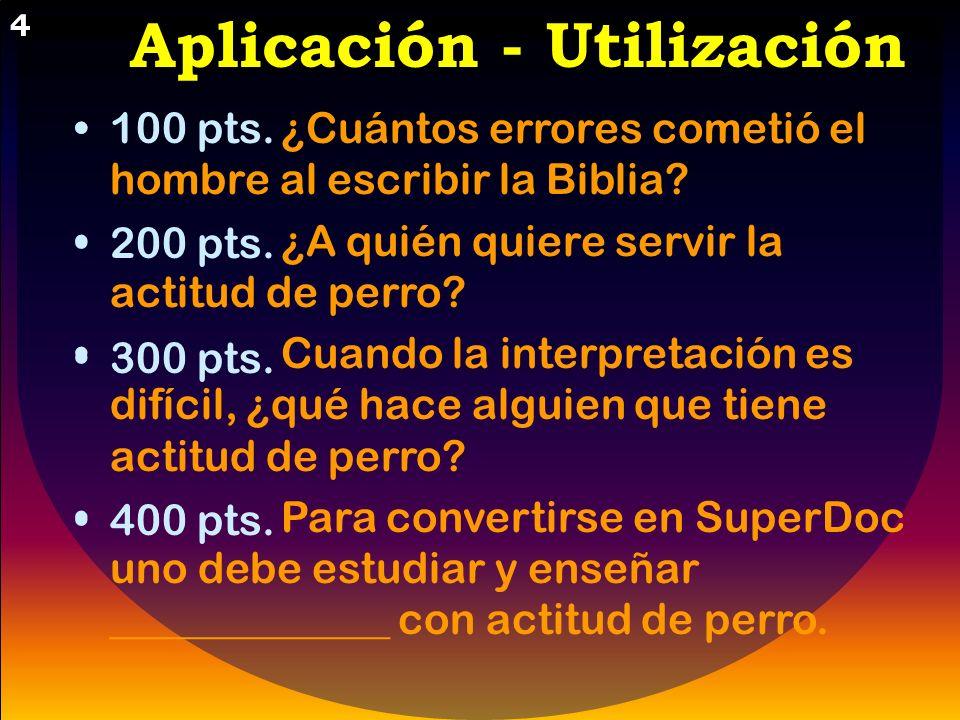 Aplicación - Utilización