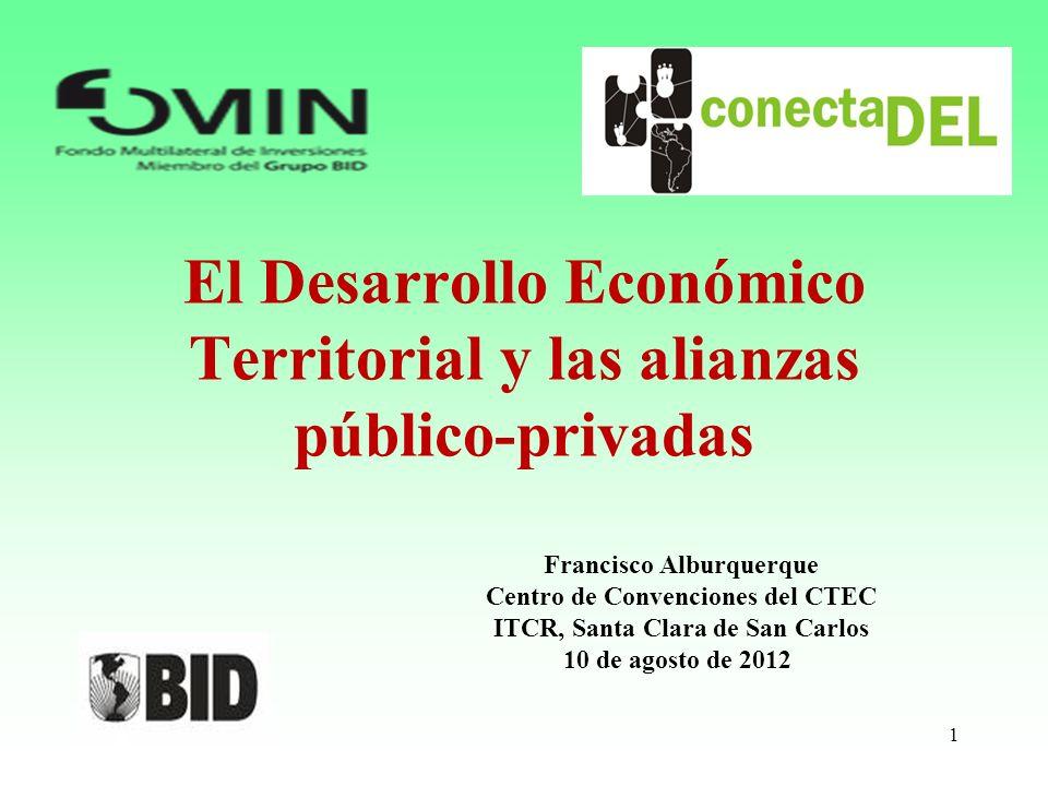 El Desarrollo Económico Territorial y las alianzas público-privadas