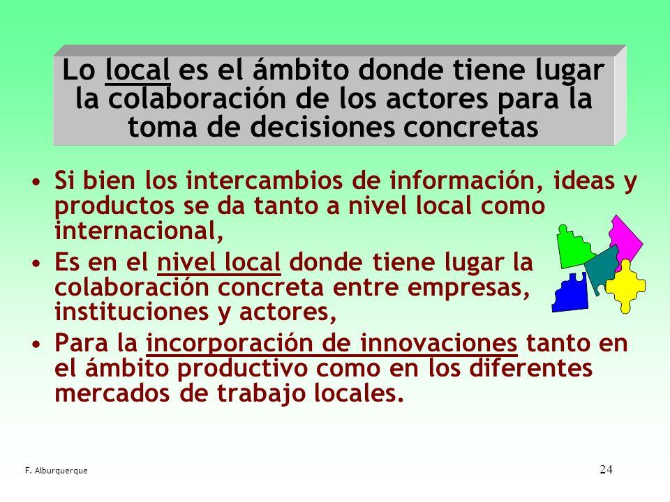 Lo local es el ámbito donde tiene lugar la colaboración de los actores para la toma de decisiones concretas