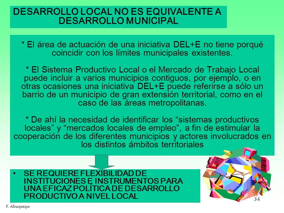 DESARROLLO LOCAL NO ES EQUIVALENTE A