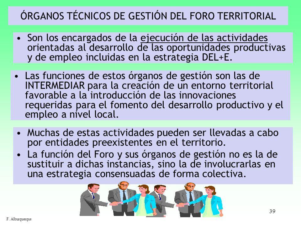 ÓRGANOS TÉCNICOS DE GESTIÓN DEL FORO TERRITORIAL