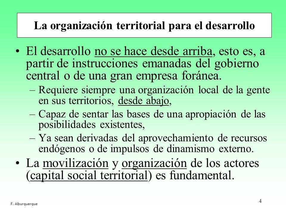 La organización territorial para el desarrollo