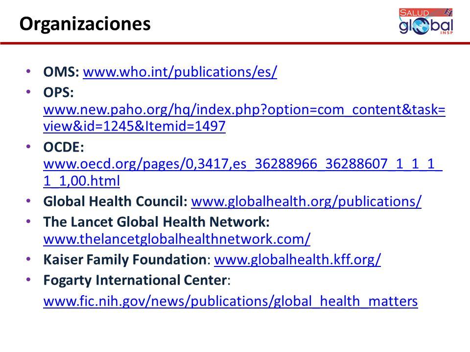 Organizaciones OMS: www.who.int/publications/es/
