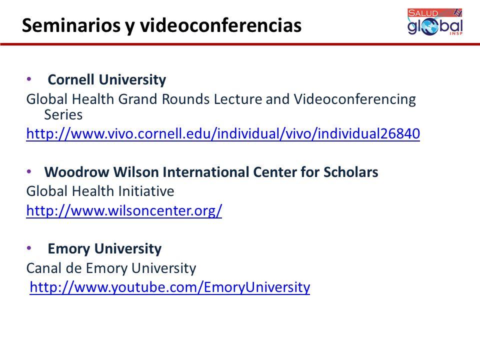 Seminarios y videoconferencias