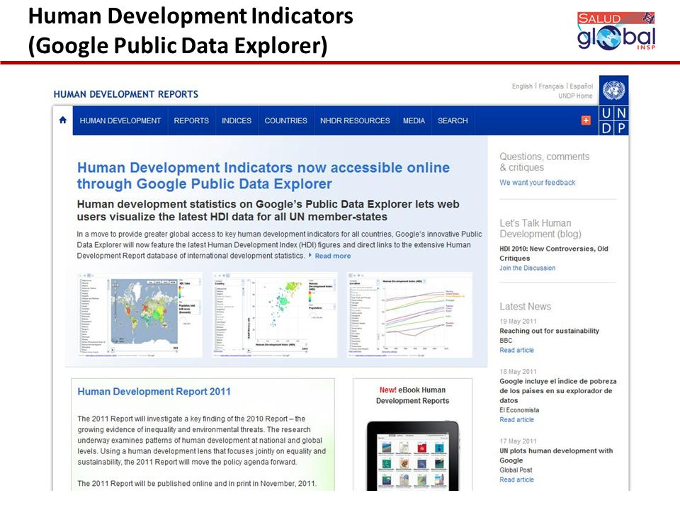 Human Development Indicators (Google Public Data Explorer)