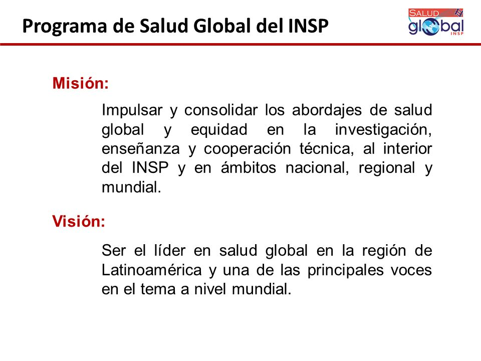 Programa de Salud Global del INSP