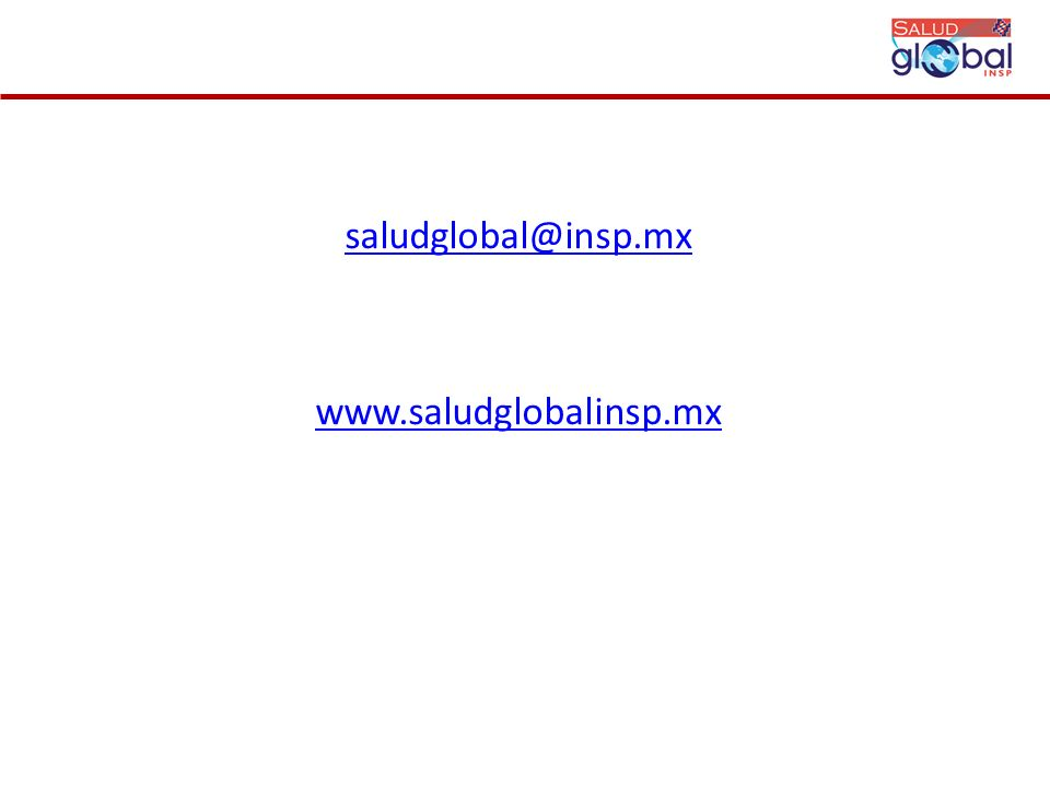 saludglobal@insp.mx www.saludglobalinsp.mx