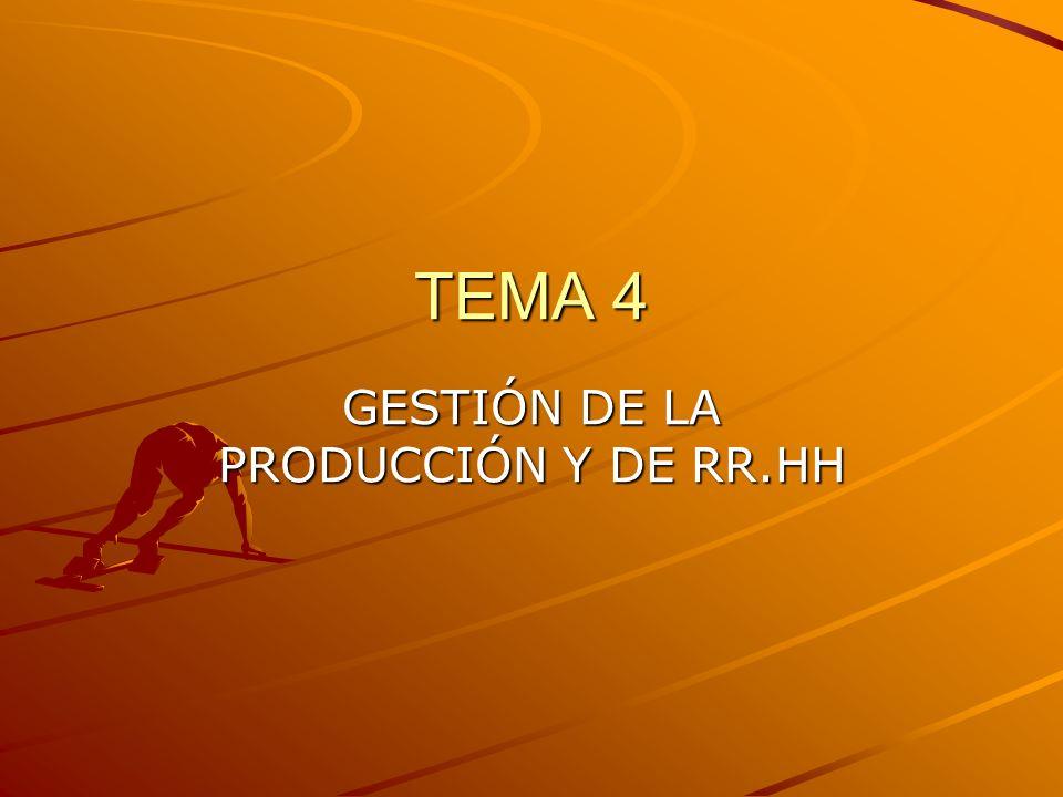 GESTIÓN DE LA PRODUCCIÓN Y DE RR.HH