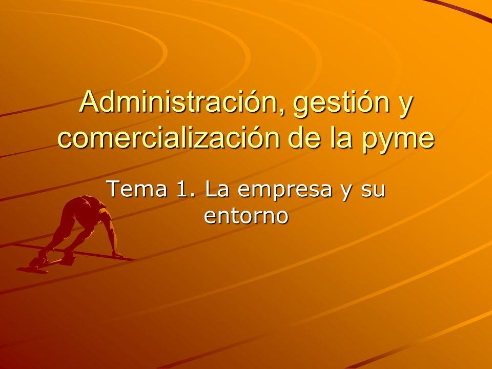 Administración, gestión y comercialización de la pyme