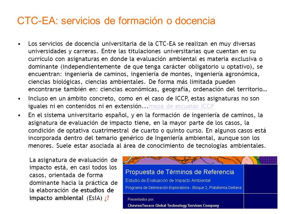 CTC-EA: servicios de formación o docencia