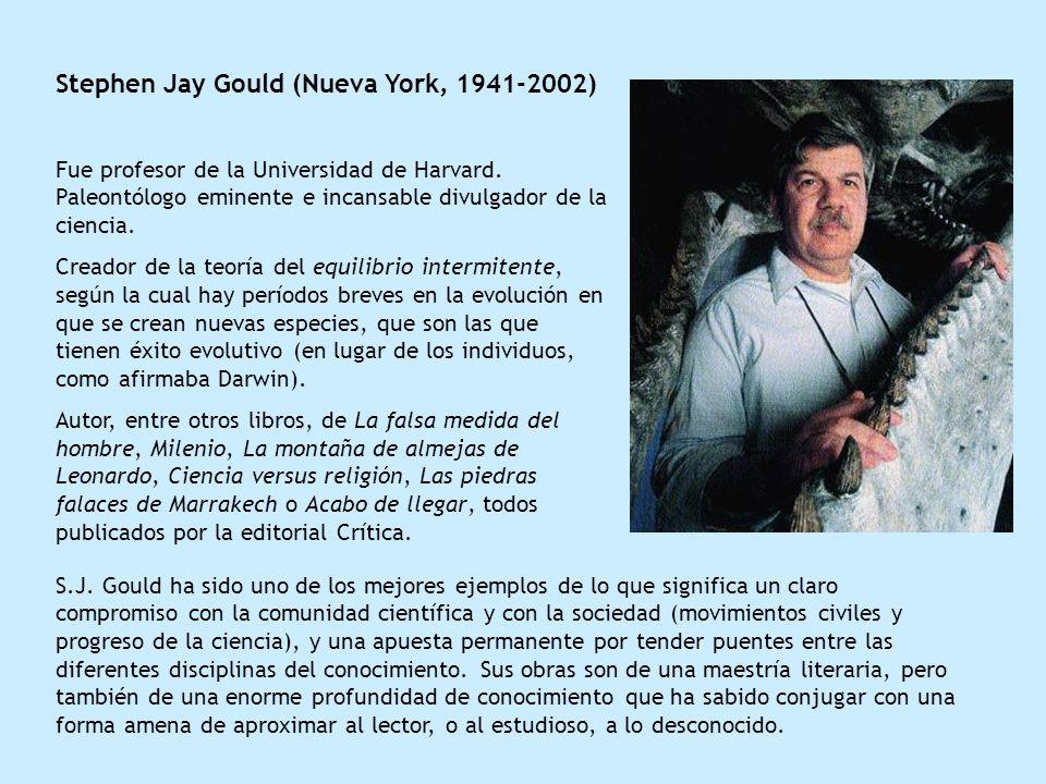 Stephen Jay Gould (Nueva York, 1941-2002)