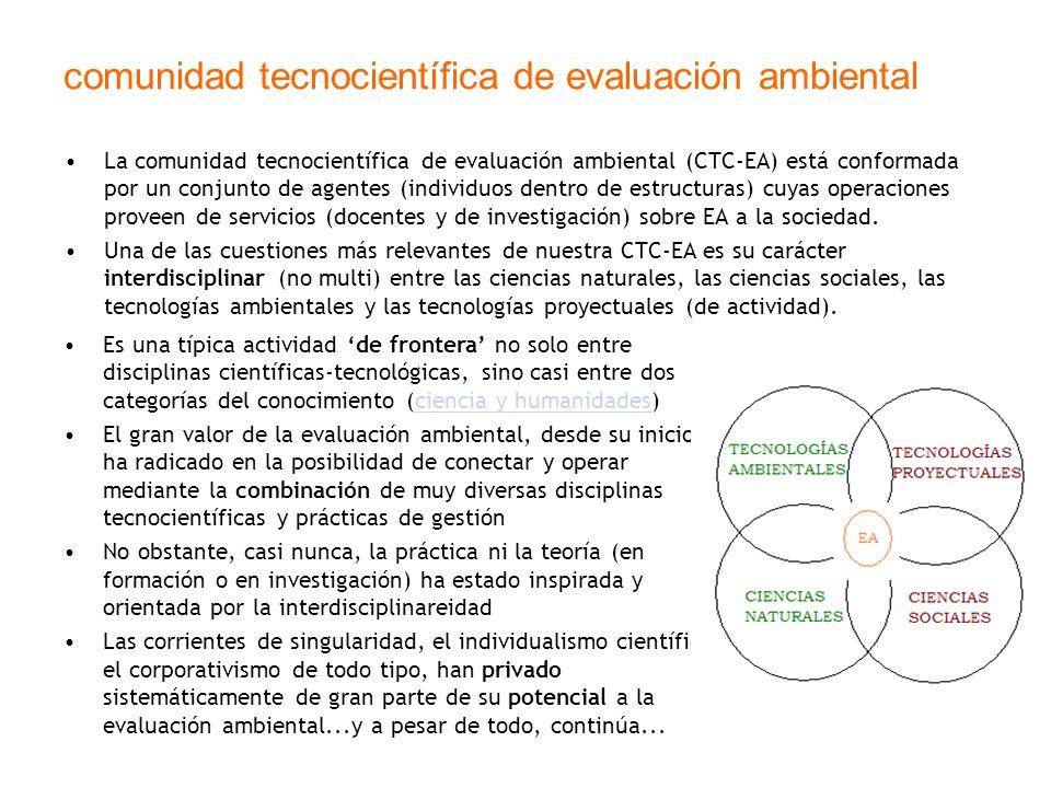 comunidad tecnocientífica de evaluación ambiental