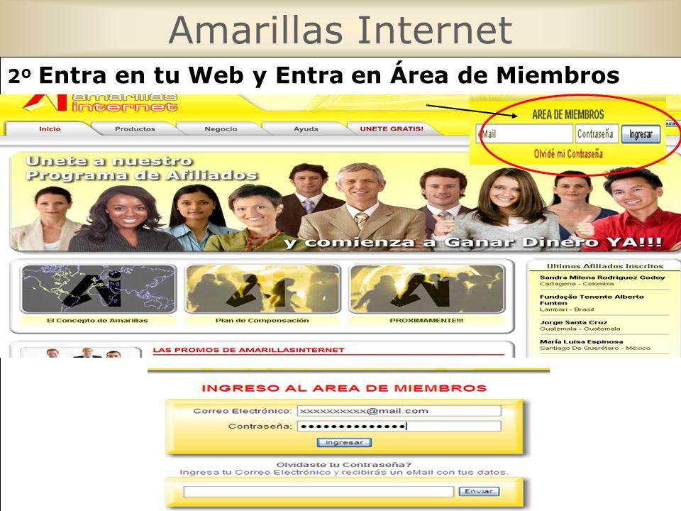Amarillas Internet 2º Entra en tu Web y Entra en Área de Miembros