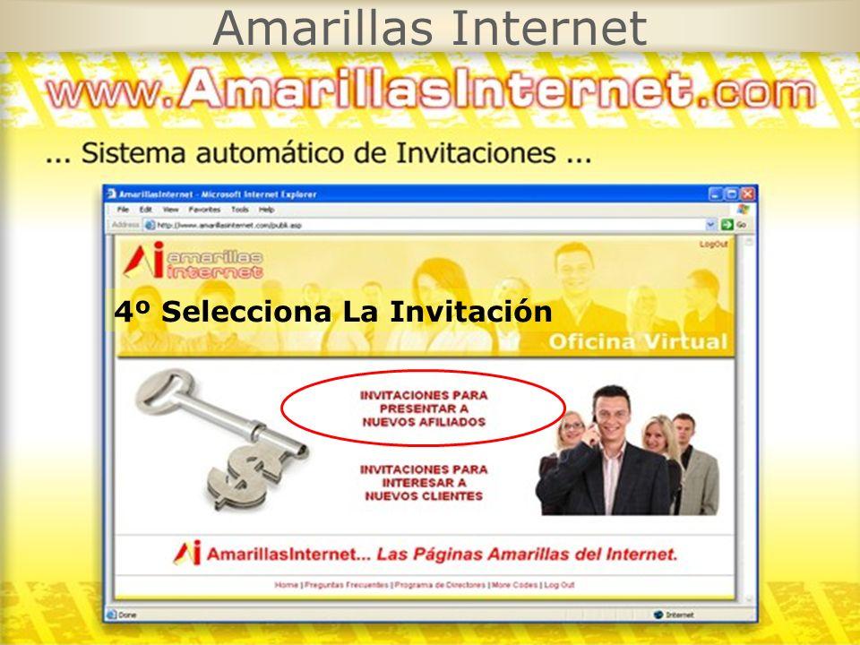 Amarillas Internet 4º Selecciona La Invitación