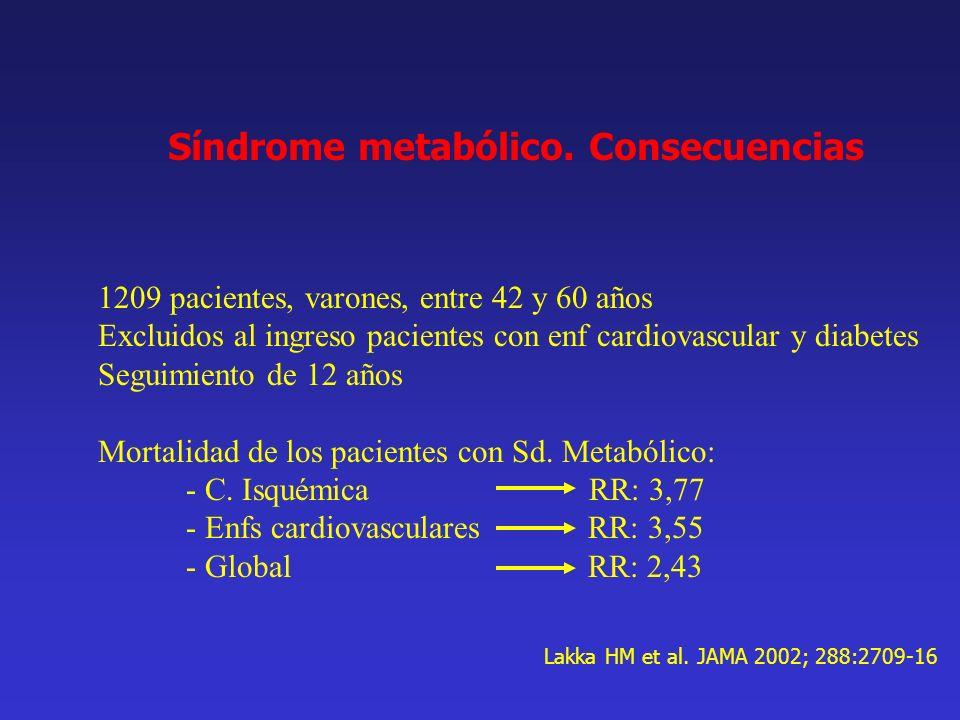 Síndrome metabólico. Consecuencias