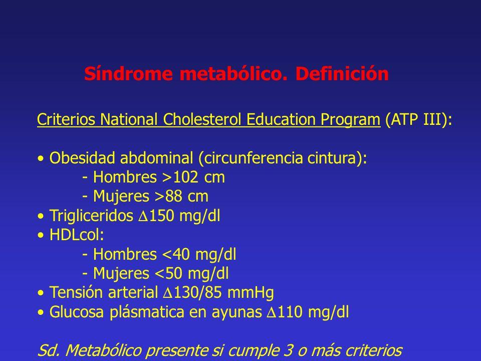 Síndrome metabólico. Definición