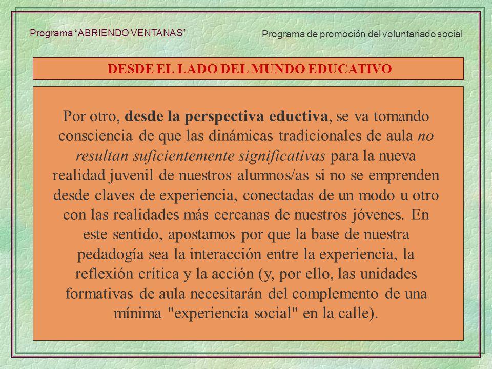 DESDE EL LADO DEL MUNDO EDUCATIVO
