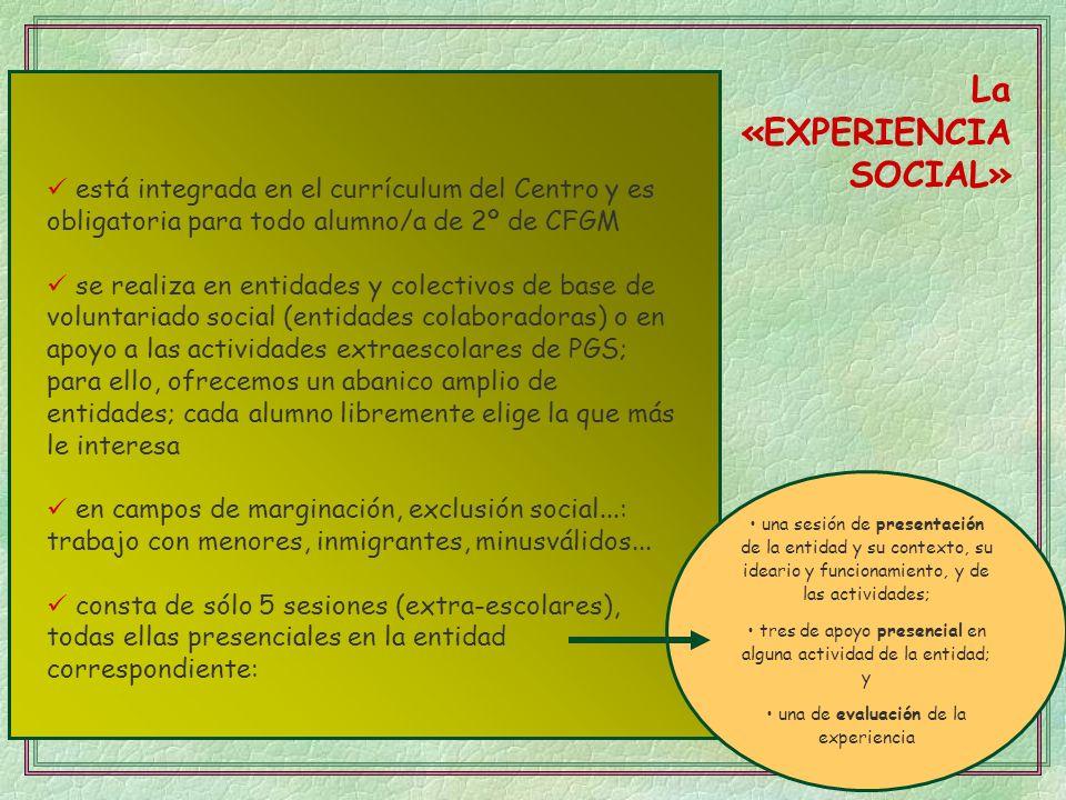 La «EXPERIENCIA SOCIAL»