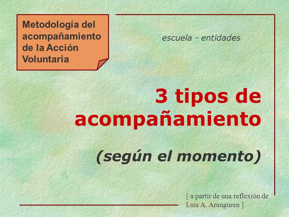 3 tipos de acompañamiento (según el momento)