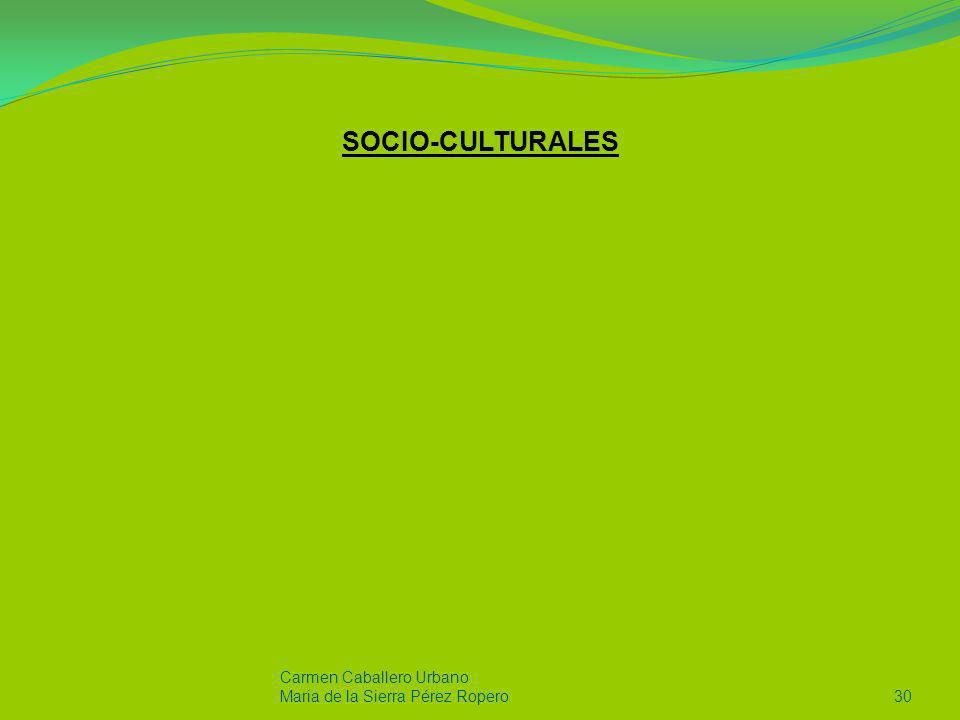 SOCIO-CULTURALES Carmen Caballero Urbano