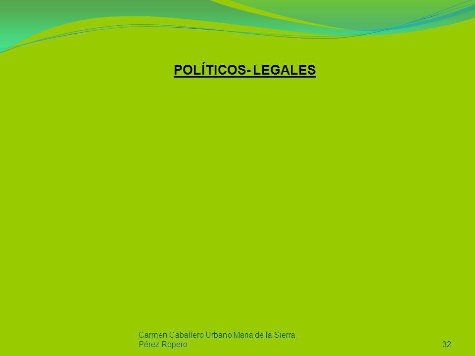 POLÍTICOS- LEGALES Carmen Caballero Urbano Maria de la Sierra Pérez Ropero