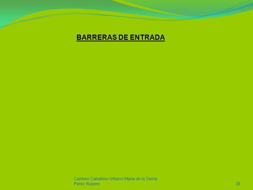 BARRERAS DE ENTRADA Carmen Caballero Urbano Maria de la Sierra Pérez Ropero