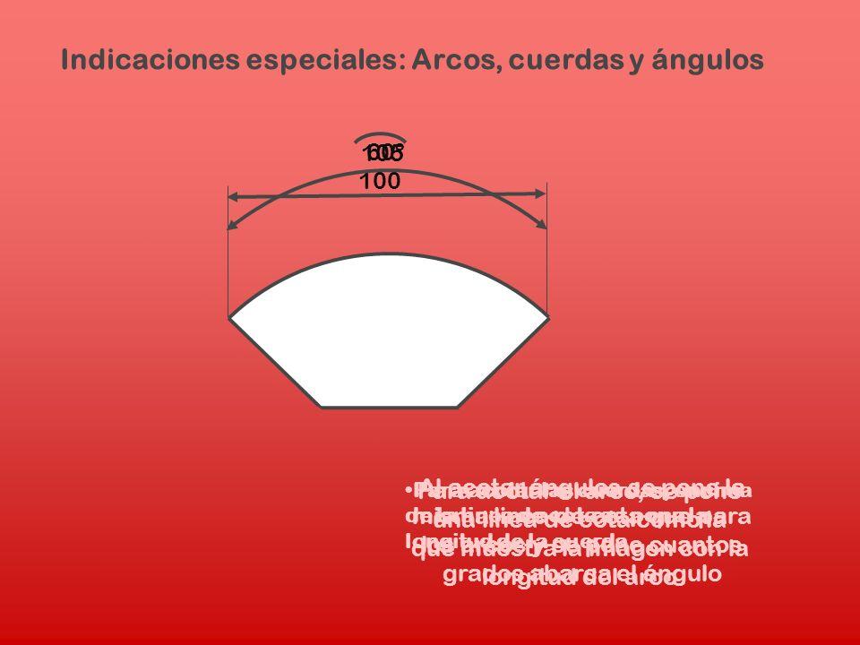 Indicaciones especiales: Arcos, cuerdas y ángulos