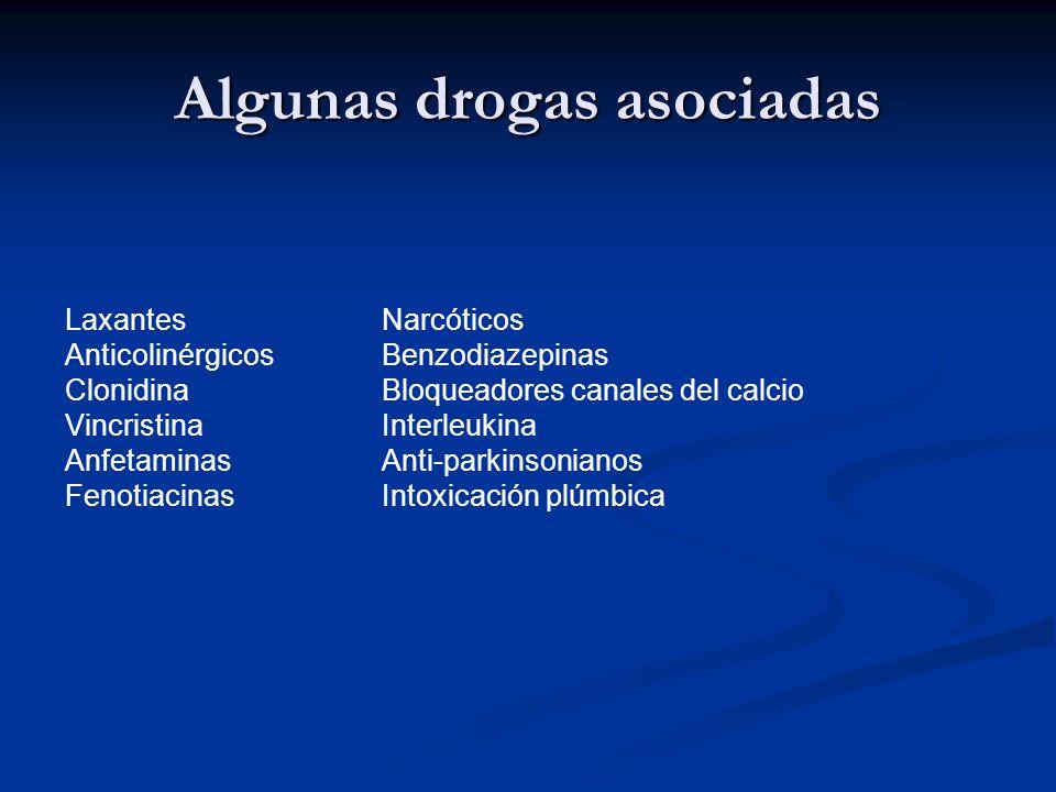Algunas drogas asociadas