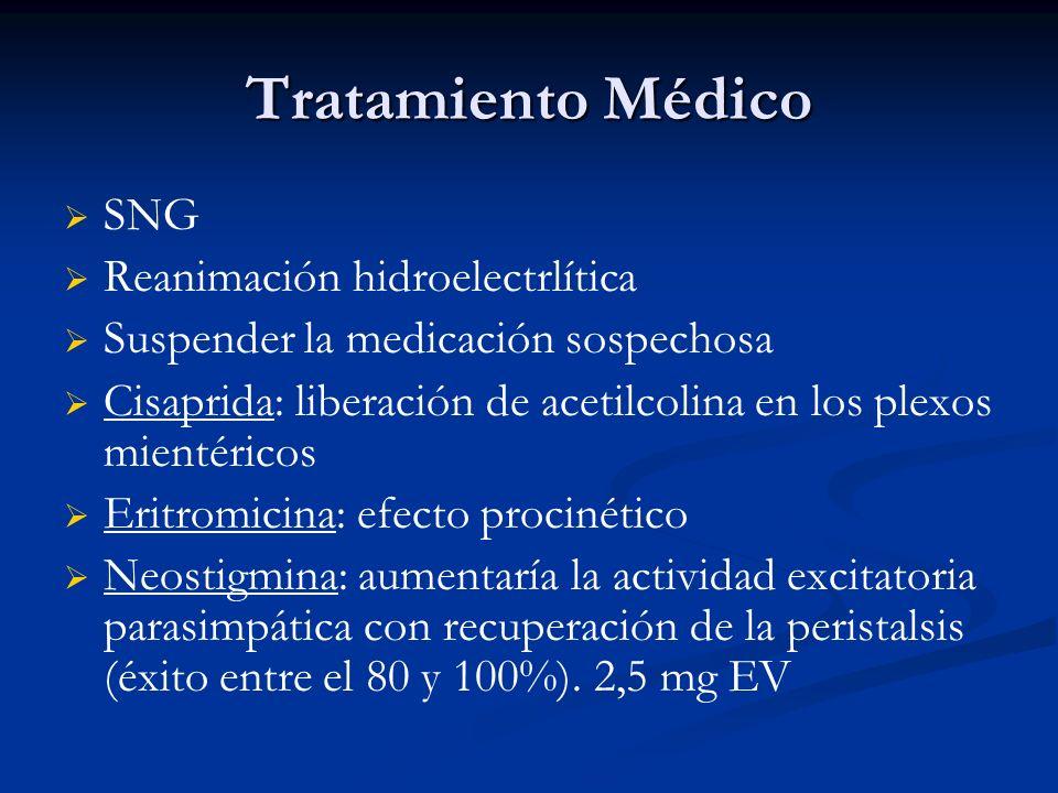 Tratamiento Médico SNG Reanimación hidroelectrlítica