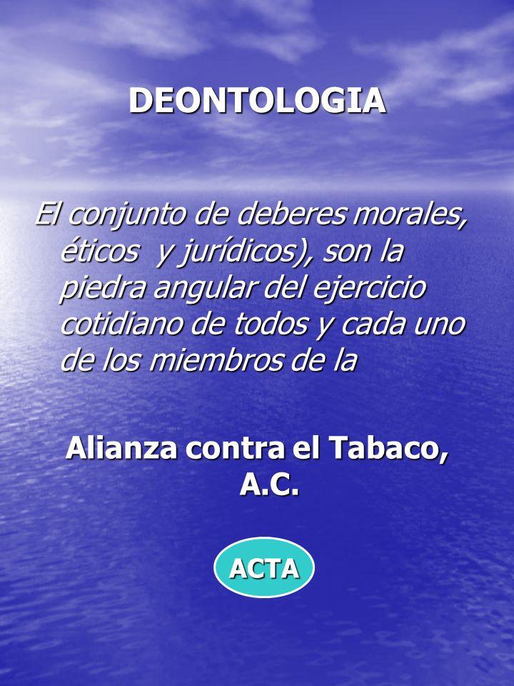 Alianza contra el Tabaco, A.C.