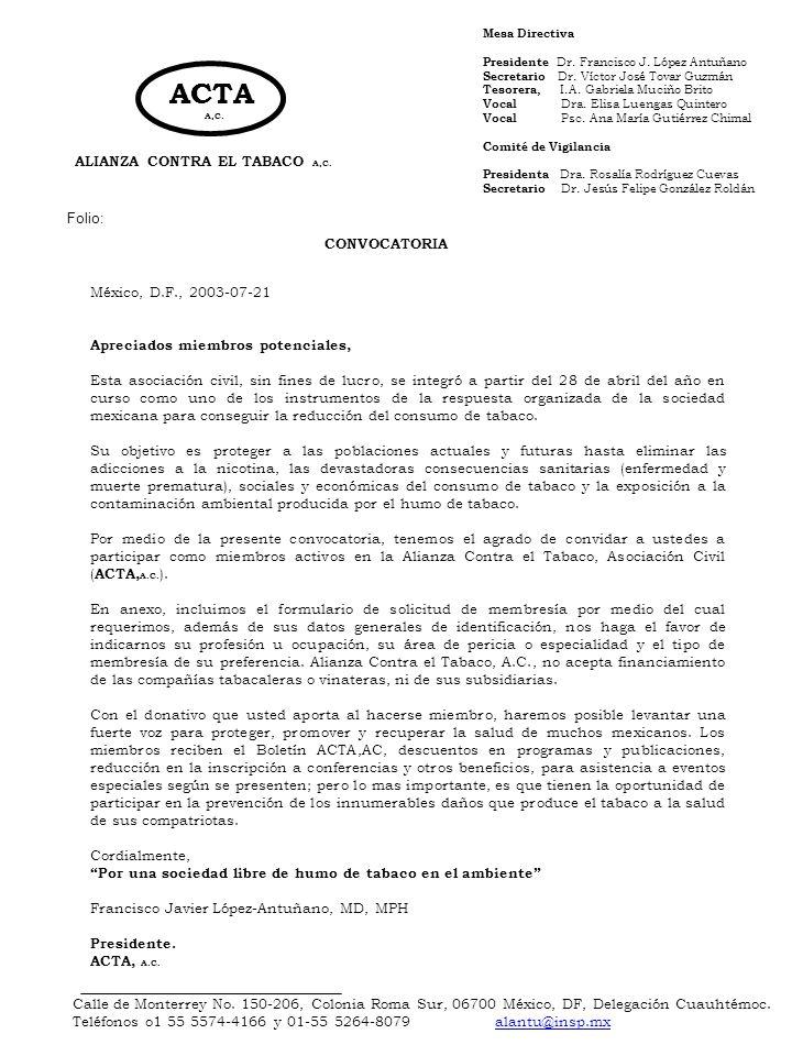 ALIANZA CONTRA EL TABACO A,C.