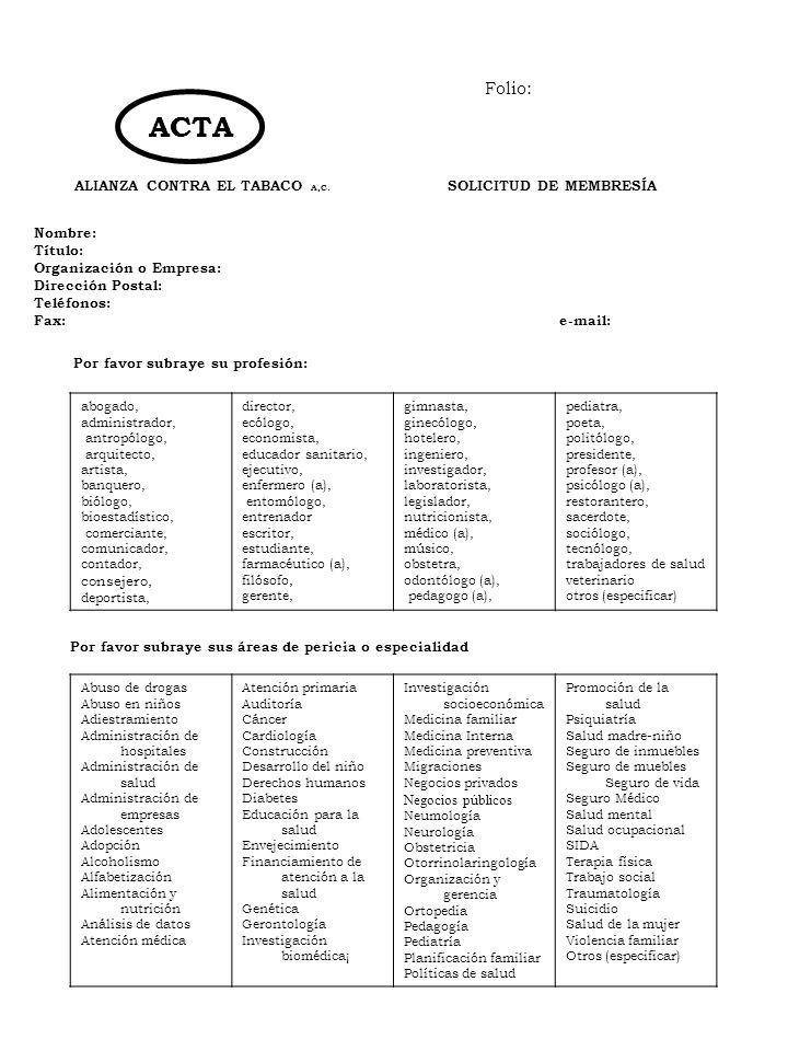 ALIANZA CONTRA EL TABACO A,C. ALIANZA CONTRA EL TABACO A,C.