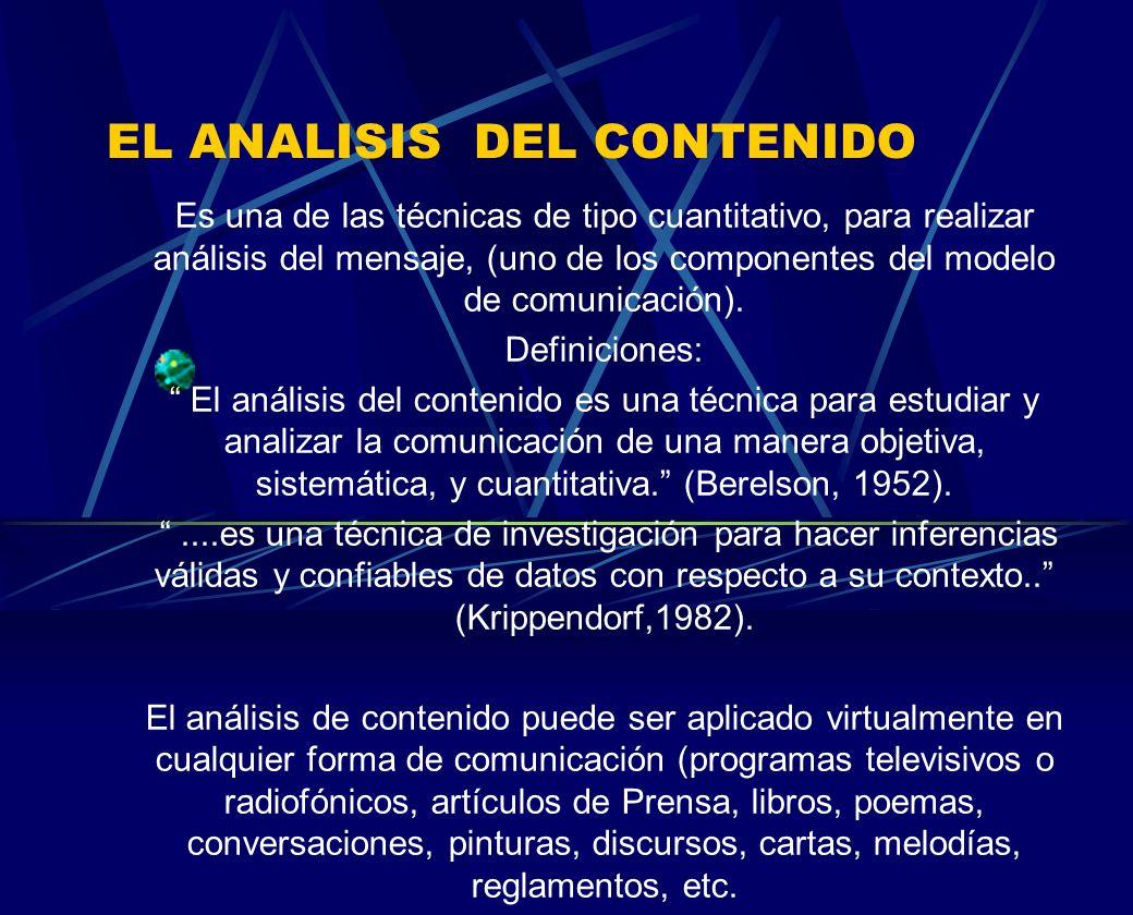 EL ANALISIS DEL CONTENIDO