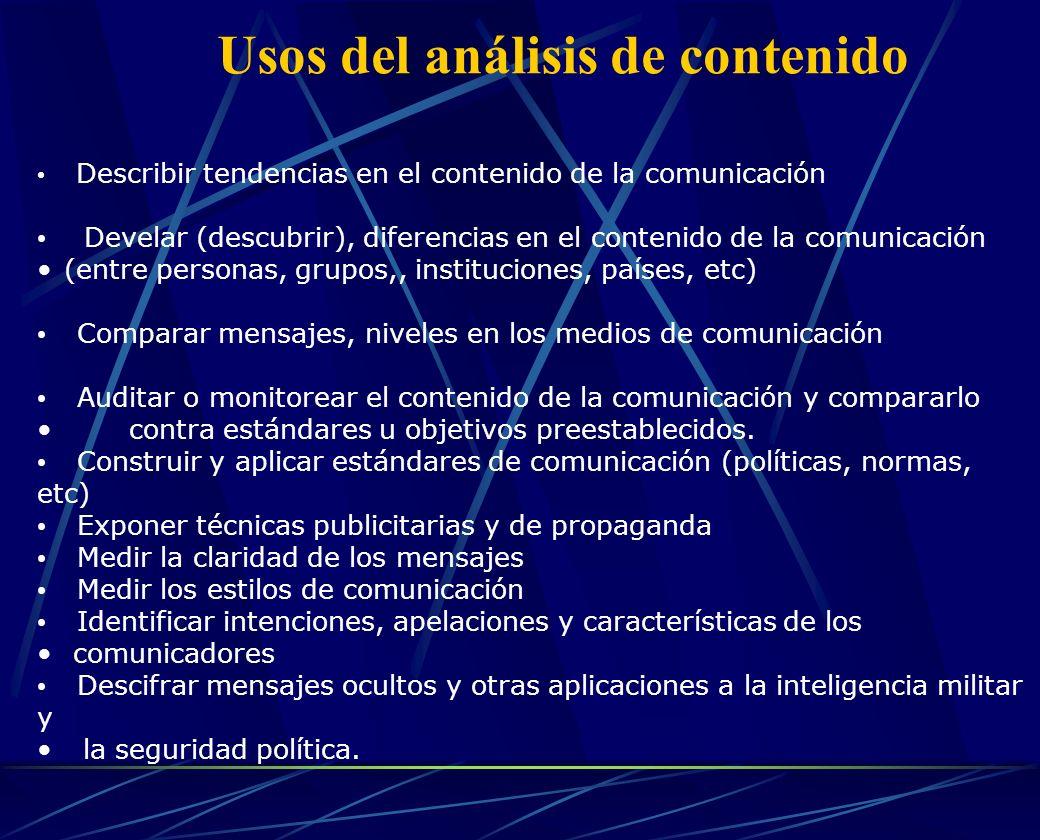 Usos del análisis de contenido