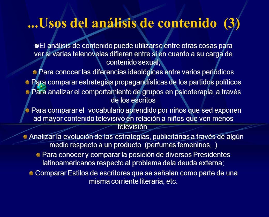 ...Usos del análisis de contenido (3)