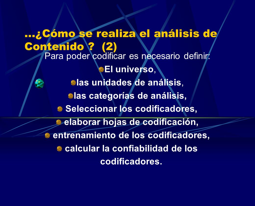 ...¿Cómo se realiza el análisis de Contenido (2)