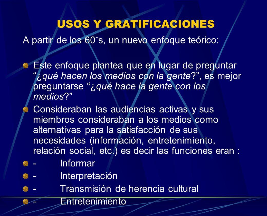 USOS Y GRATIFICACIONES