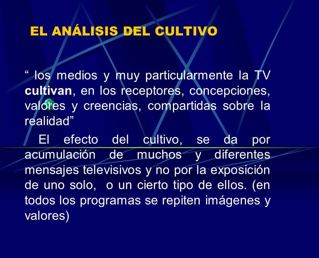 EL ANÁLISIS DEL CULTIVO