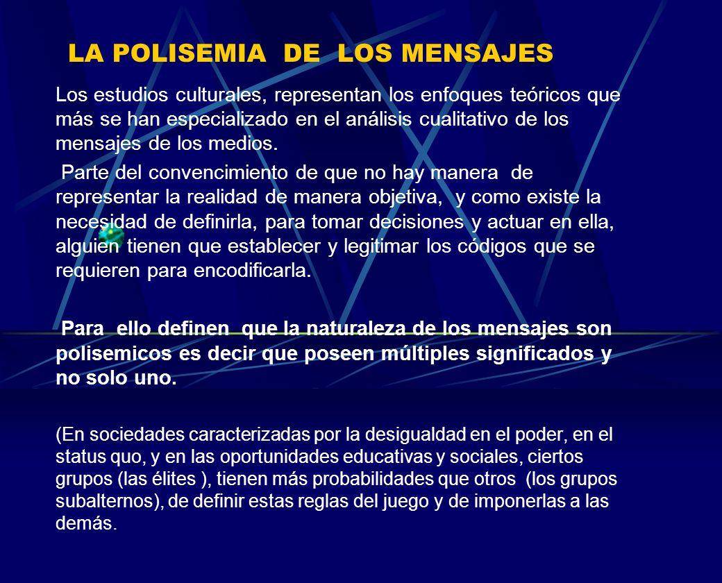 LA POLISEMIA DE LOS MENSAJES