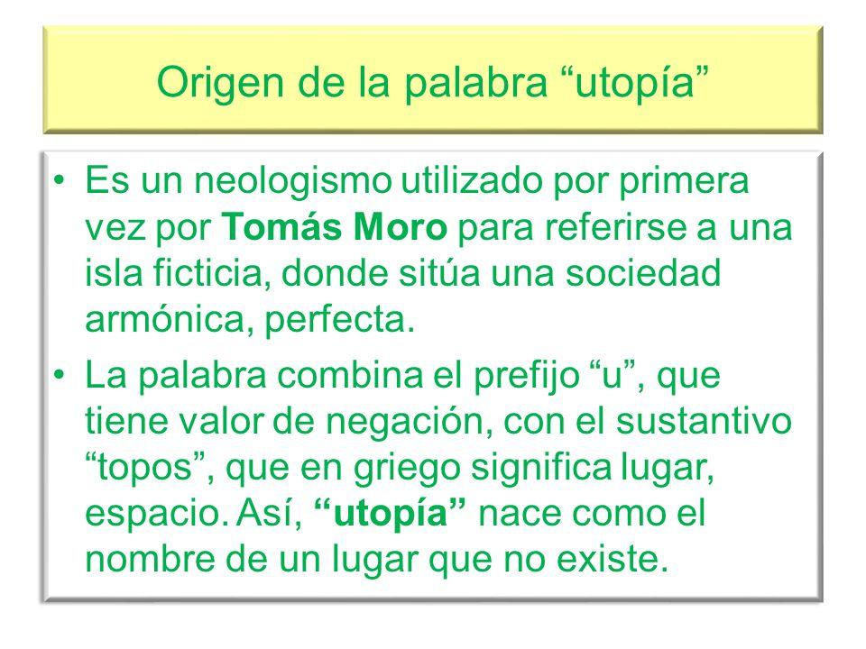 Origen de la palabra utopía
