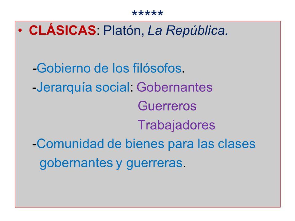 ***** CLÁSICAS: Platón, La República. -Gobierno de los filósofos.