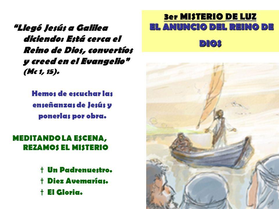 3er MISTERIO DE LUZ EL ANUNCIO DEL REINO DE DIOS