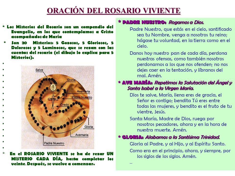 ORACIÓN DEL ROSARIO VIVIENTE