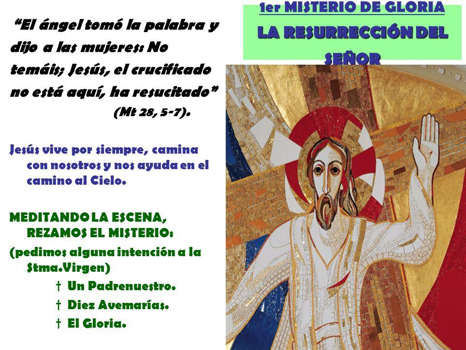 1er MISTERIO DE GLORIA LA RESURRECCIÓN DEL SEÑOR